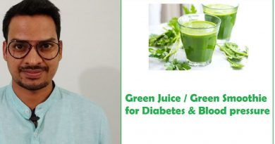 Green Smoothie / Green Juice For Diabetes & Blood Pressure