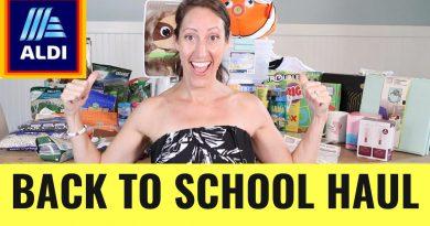 HUGE ALDI Grocery Haul - Back to School Supplies Shopping Steals & Deals 2020