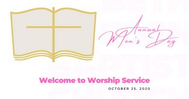 """Annual Men's Day 2020 - """"Handle With Care"""" Deacon Timothy Campbell 10.25.20"""