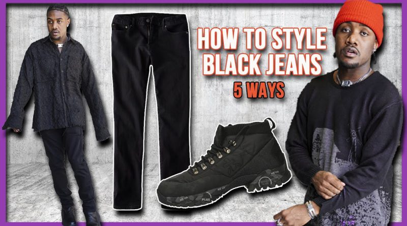 How to Style Black Jeans 5 WAYS | Men's FALL FASHION 2020