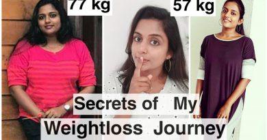 Secrets of my weightloss journey