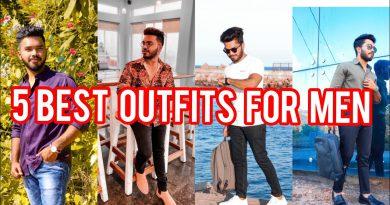 5 BEST OUTFITS FOR MEN | In Telugu | Ravinder's Fashion