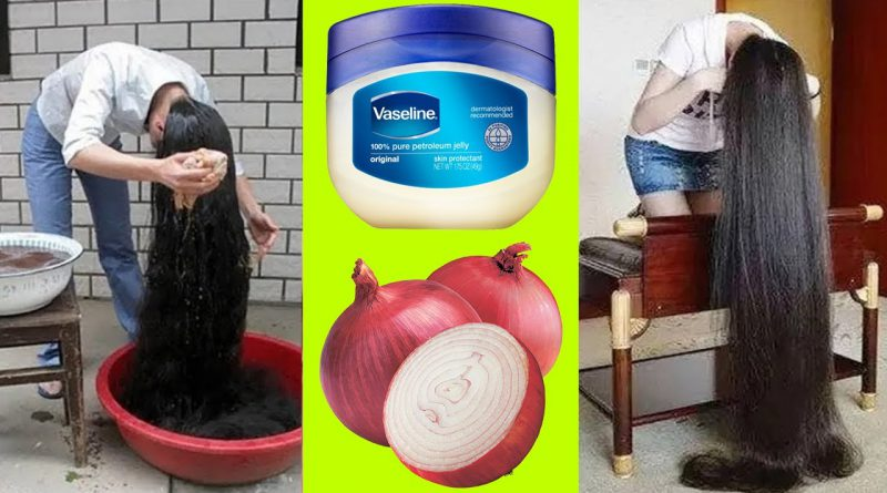 How To Grow Long And Thicken Hair With Using Vaseline And Onion, Get Long Thick Hair In a Week