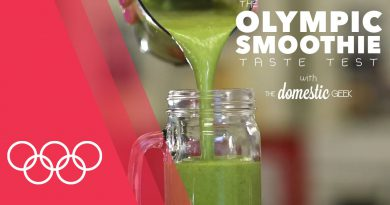 The lean mean green smoothie | Smoothie Taste Test with Domestic Geek at the Youth Olympics