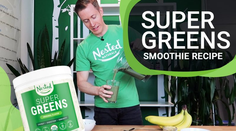 Healthy Super Green Smoothie Recipe l Jeremy Sherk