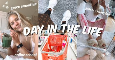 PRODUCTIVE VLOG: grocery shopping, my favorite green smoothie + getting motivated