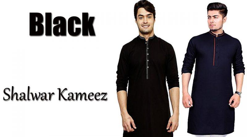 black shalwar kameez men, gents shalwar kameez design,Men's lifestyle Lifestyle Famous12